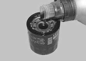 Заливка фильтра маслом