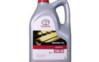 Автомобильное масло Тойота